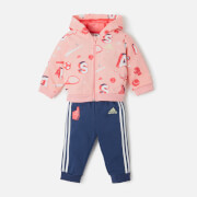 Adidas Girls' Infant Full Zip Hoody and Jogger Set - Glory Pink