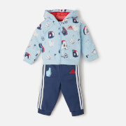 Adidas Girls' Infant Full Zip Hoody and Jogger Set - Clear Sky