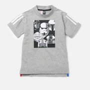 adidas Boys' Star Wars Short Sleeve T-Shirt - Medium Grey Heather
