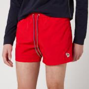 PS Paul Smith Men's Zebra Swim Shorts - Red
