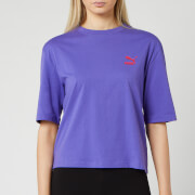 Puma Women's TFS Graphic Short Sleeve T-Shirt - Purple Corallites