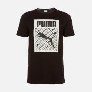 Puma Men's Logo Fill Short Sleeve T-Shirt - Puma Black