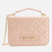 Love Moschino Women's Quilted Medium Shoulder Bag - Pink