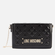 Love Moschino Women's Quilted Crossbody - Black