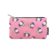 Loungefly DC Harley Quinn Bubble Gum Nylon Pouch