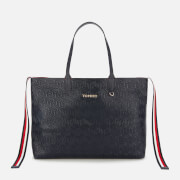Tommy Hilfiger Women's Iconic Tommy Tote - Navy Embossed