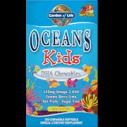 Oceans キッズ DHA チュアブル オメガ3 ソフトジェル - ベリーライム - ソフトジェル 120粒