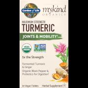 mykind Organics compresse vegane di curcuma di massima potenza - 30 compresse