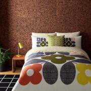 Orla Kiely Placement Flower Tile Duvet Cover - White