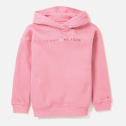 Tommy Hilfiger Girls' Logo Long Line Hoody - Sea Pink