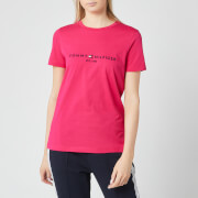 Tommy Hilfiger Women's Essential Hilfiger T-Shirt - Bright Jewel
