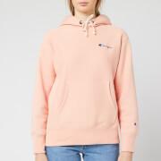 Champion Women's Small Script Hooded Sweatshirt - Pink