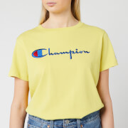 Champion Women's Big Script T-Shirt - Yellow