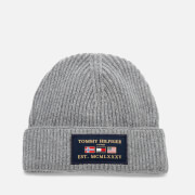 Tommy Hilfiger Men's Outdoors Patch Beanie Hat - Mid Grey Melange