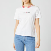 Tommy Jeans Women's TJW Contrast Rib Logo T-Shirt - White