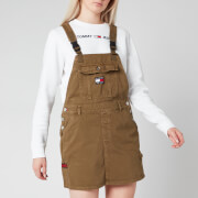 Tommy Jeans Women's Dungaree Dress - Olive Tree Twill
