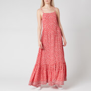 Tommy Jeans Women's TJW Floral Maxi Strap Dress - Floral Print/Deep Crimson