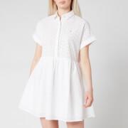 Tommy Jeans Women's TJW Shiffli Shirt Dress - White