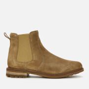 Clarks Men's Foxwell Top Suede Chelsea Boots - Dark Sand