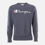 Champion Men's Big Script Crew Neck Sweatshirt - Grey