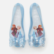 Mini Melissa Kids' Disney Frozen Ultragirl Ballet Flats - Sky Glitter Frost Bow