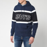 Levi's Men's Pieced Racer Hoody - Color Block Blue/White