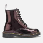 Dr. Martens Women's 1460 8-Eye Sparkle Boots - Purple/Royal Sparkle