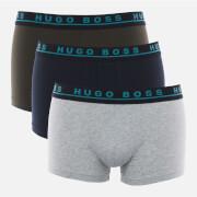 BOSS Hugo Boss Men's 3 Pack Trunks - Grey/Navy/Multi