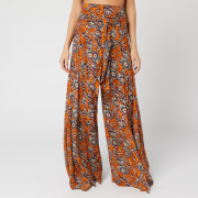 Free People Women's Aloha Wide Leg Trousers - Bright Orange