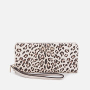 Guess Women's Lorenna Large Zip Around Wallet - Leopard