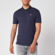 Tommy Jeans Men's Classics Solid Stretch Polo Shirt - Black Iris