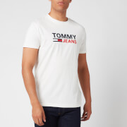 Tommy Jeans Men's Corporate Logo T-Shirt - White