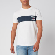 Tommy Jeans Men's Chest Stripe Logo T-Shirt - White