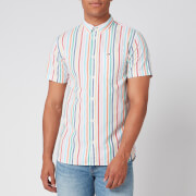 Tommy Jeans Men's Short Sleeve Stripe Shirt - White/Multi