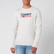 Tommy Jeans Men's Corporate Logo Sweatshirt - Pale Grey Heather