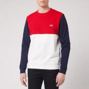 Lacoste Men's Colour Block Sweatshirt - Navy Green/Off White