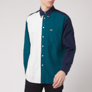 Lacoste Men's Colour Block Shirt - Navy Green/Off White