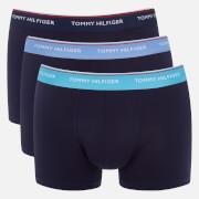 Tommy Hilfiger Men's 3 Pack Trunk Boxer Shorts - Blue Grotto/Cornflower/Peacoat