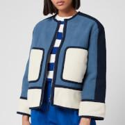 L.F Markey Women's Gordon Coat Linen - Blue