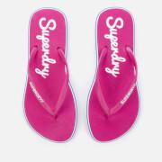 Superdry Women's Neon Rainbow Sleek Flip Flops - Sienna Pink