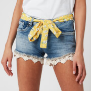 Superdry Women's Lace Hot Short - Summer House Blue