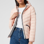 Superdry Women's Long Sleeved Essentials Sleeved Helio Padded Jacket - Peach Whip