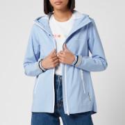 Superdry Women's Long Sleeved Essentials Sleeved Harpa Waterproof Jacket - Blue Heron