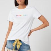 Superdry Women's Logo Symbols Emb Entry T-Shirt - Optic White