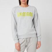 Armani Exchange Women's Logo Sweatshirt - Light Grey Marl