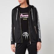 Armani Exchange Women's Full Zip Taping Hoodie - Black