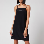 Calvin Klein Jeans Women's Monogram Slip Dress - CK Black