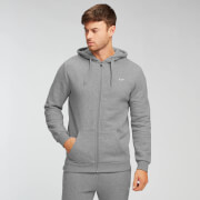 MP Men's Essentials Zip Through Hoodie - Grey Marl