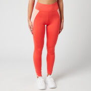 Tommy Sport Women's High Waisted Training Leggings - Bright Vermillion