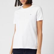 Calvin Klein Women's Small Logo Embroidered T-Shirt - White